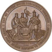 Medal - Start of conflicts between Schleswig-Holstein and Denmark (Bronze issue) – obverse