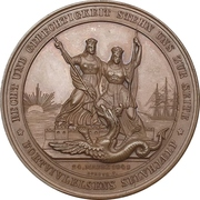 Medal - Start of conflicts between Schleswig-Holstein and Denmark (Bronze issue) – reverse