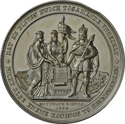 Medal - Start of conflicts between Schleswig-Holstein and Denmark (Zinc issue) – obverse