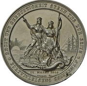 Medal - Start of conflicts between Schleswig-Holstein and Denmark (Zinc issue) – reverse