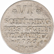 6 Schilling - Karl Friedrich – reverse