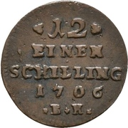 1/12 Schilling - Karl Friedrich – reverse
