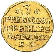 3 Pfennig - Karl Friedrich (Gold Pattern) – reverse