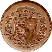 1 Dreiling (Provisional Government Coinage) – obverse