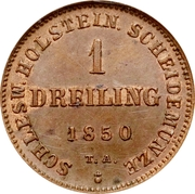 1 Dreiling (Provisional Government Coinage) – reverse