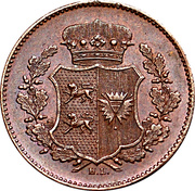 1 Sechsling (Provisional Government Coinage) – obverse