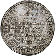 1 Thaler - Alexander (Death) – obverse