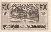50 Heller (Schlierbach) -  obverse