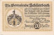 20 Heller (Schlierbach) -  reverse