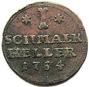 1 Heller - Wilhelm VIII von Hessen-Kassel – reverse