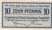 10 Pfennig (Erzgebirgische Bank) – obverse
