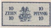 10 Pfennig (Erzgebirgische Bank) – reverse
