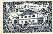 10 Heller (Schönau im Mühlkreis; Blue issue) -  obverse
