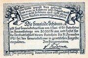 10 Heller (Schönau im Mühlkreis; Blue issue) -  reverse