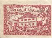 10 Heller (Schönau im Mühlkreis) – obverse