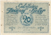 20 Heller (Schönau im Mühlkreis) – obverse