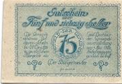 75 Heller (Schönau im Mühlkreis) – obverse