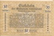 10 Heller (Schönbichl) – reverse