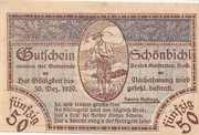 50 Heller (Schönbichl) – obverse