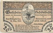 20 Heller (Schönbichl) – obverse