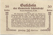 50 Heller (Schönbichl) – reverse