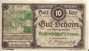 10 Heller (Schönbühel) – obverse
