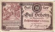 20 Heller (Schönbühel) – obverse
