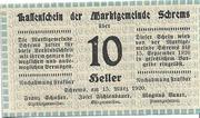 10 Heller (Schrems) – obverse