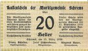 20 Heller (Schrems) – obverse