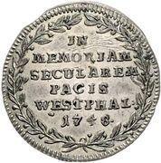 3 Kreuzer (Centenary - Peace of Westphalia) – reverse