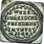 1 Kreuzer (Centenary - Peace of Westphalia; Klippe) – reverse