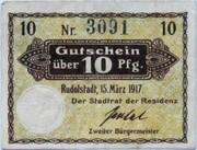 10 Pfennig (Rudolstadt) – obverse