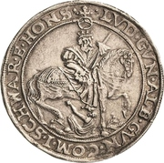 ½ Thaler - Albert VIII., Günther XLII, Anton Heinrich, Johann Günther II. and Christian Günther I. – reverse