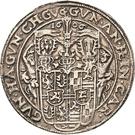 ½ Thaler - Albert VIII., Günther XLII, Anton Heinrich, Johann Günther II. and Christian Günther I. – obverse