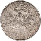 1 Thaler - Günther XLI. and Johann Günther – reverse