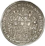 1 Thaler - Albert VIII., Günther XLII, Anton Heinrich, Johann Günther II. and Christian Günther I. – obverse