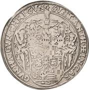 1 Thaler - Albert VIII., Günther XLII, Anton Heinrich, Johann Günther II. and Christian Günther I. -  obverse