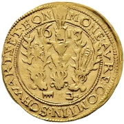 1 Goldgulden - Karl Günther, Ludwig Günther, Albert Günther, Günther XLII., Anton Heinrich, Johann Günther II. and Christian Günther – obverse
