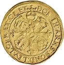 1 Goldgulden - Karl Günther, Ludwig Günther, Albert Günther, Günther XLII., Anton Heinrich, Johann Günther II. and Christian Günther – reverse