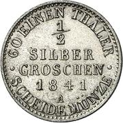 ½ Silbergroschen - Friedrich Günther – reverse