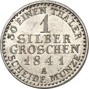 1 Silbergroschen - Friedrich Günther – reverse