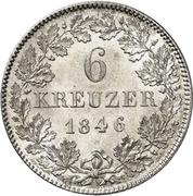 6 Kreuzer - Friedrich Günther – reverse