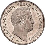 ½ Gulden - Friedrich Günther – obverse