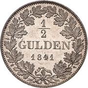 ½ Gulden - Friedrich Günther – reverse