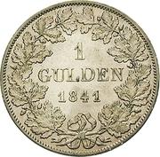 1 Gulden - Friedrich Günther – reverse