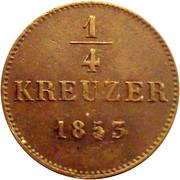 ¼ Kreuzer - Friedrich Günther – reverse