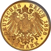 10 Mark - Günther Viktor – reverse