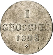 1 Groschen - Friedrich Günther – reverse