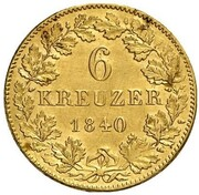 6 Kreuzer - Friedrich Günther (Gold Pattern) – reverse