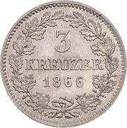 3 Kreuzer - Friedrich Günther – reverse